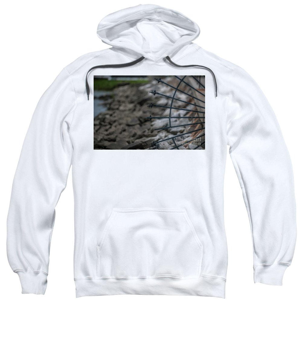 Iron Sweatshirt featuring the photograph Iron And Rocks by Dale Powell