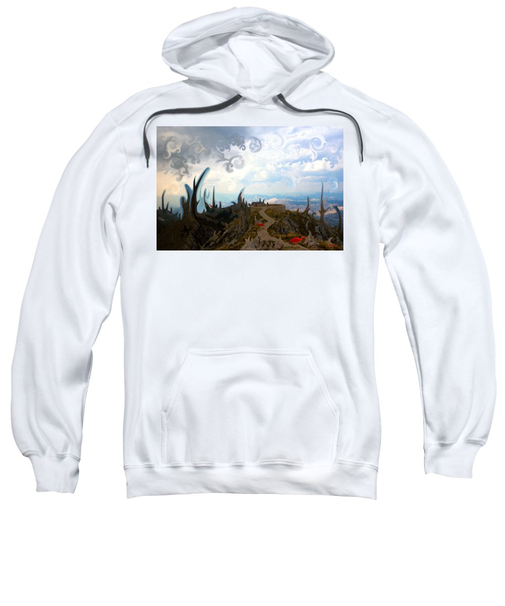 Is Sweatshirt featuring the digital art Is It by Marko Mitic