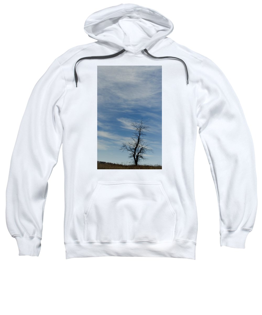 Scenic Tours Sweatshirt featuring the photograph Isolated In The Blue by Skip Willits