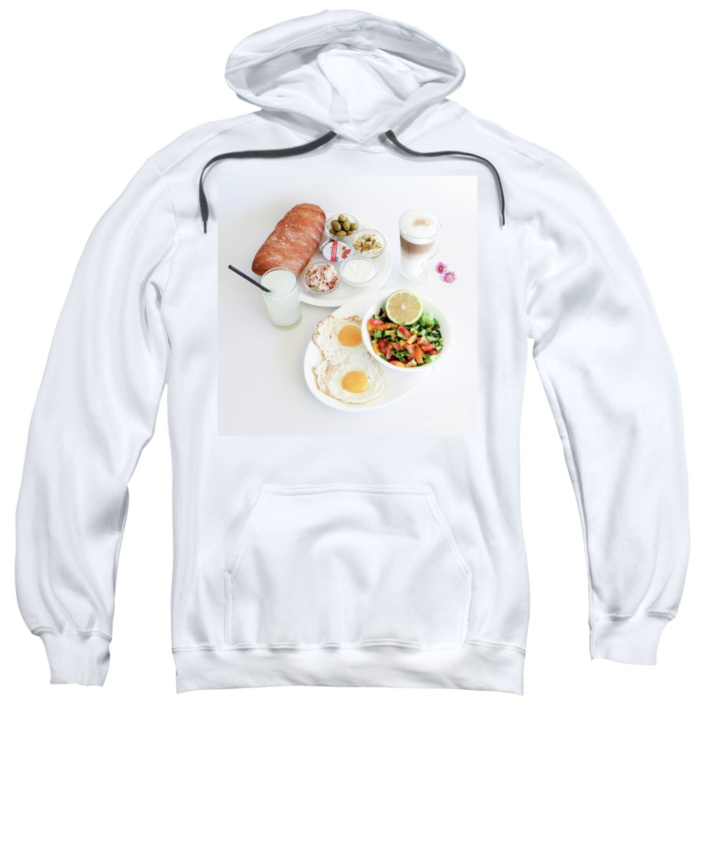 Israeli Breakfast Sweatshirt featuring the photograph Israeli Breakfast by Oren Shalev