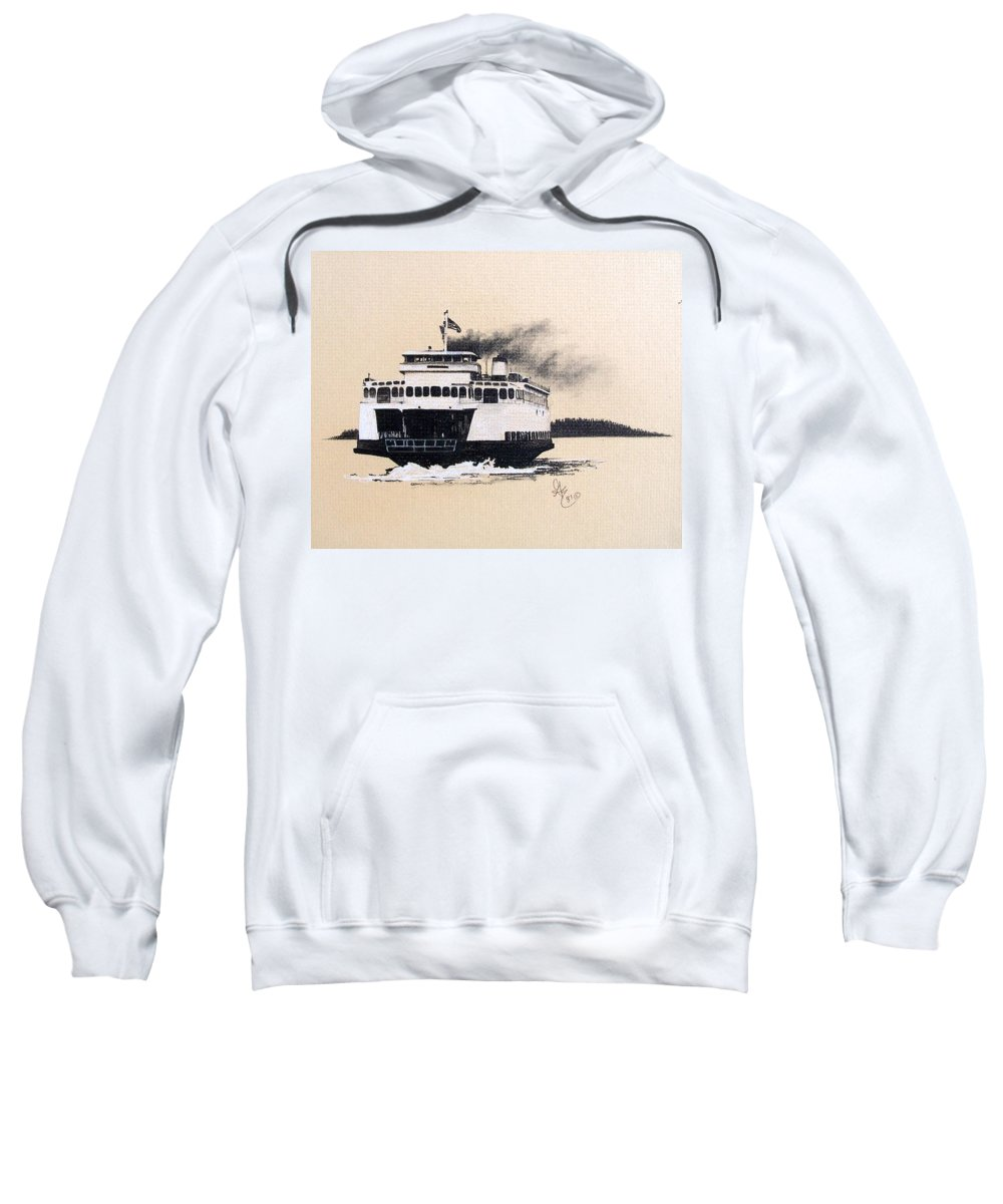 Ferry Sweatshirt featuring the pastel Issaquah by Gale Cochran-Smith