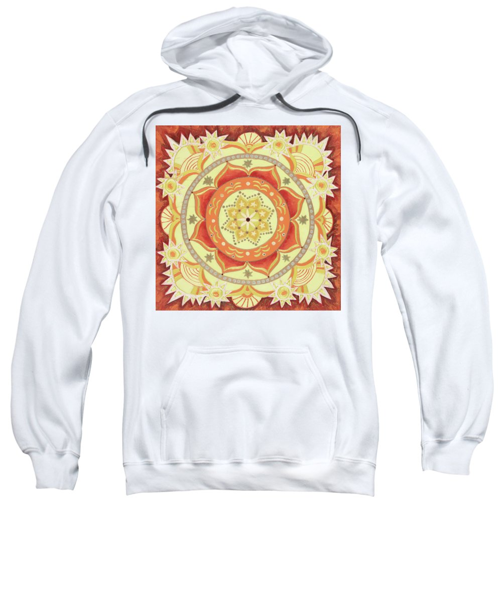 Mandala Sweatshirt featuring the painting It Takes All Kinds The Universal Need To Express by Kathleen Rausch