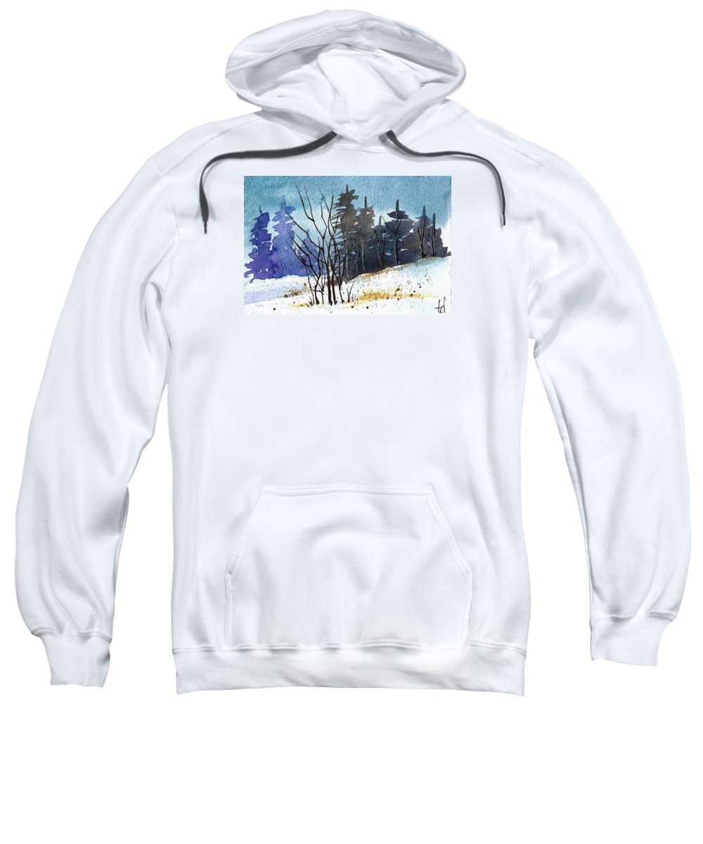 Snow Sweatshirt featuring the painting It's Cold Outside by Tonya Doughty