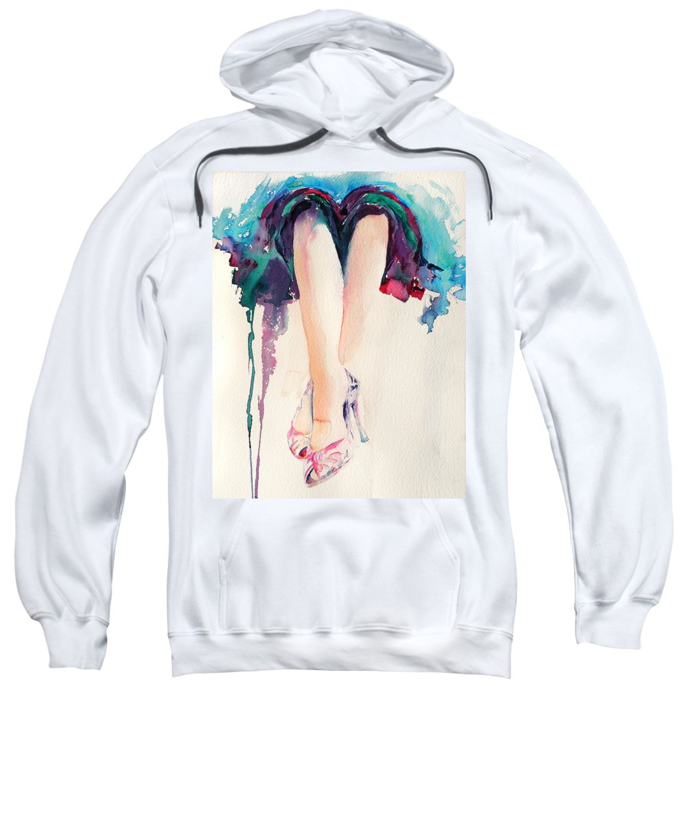 Legs Sweatshirt featuring the painting It's Party Time by Stephie Butler