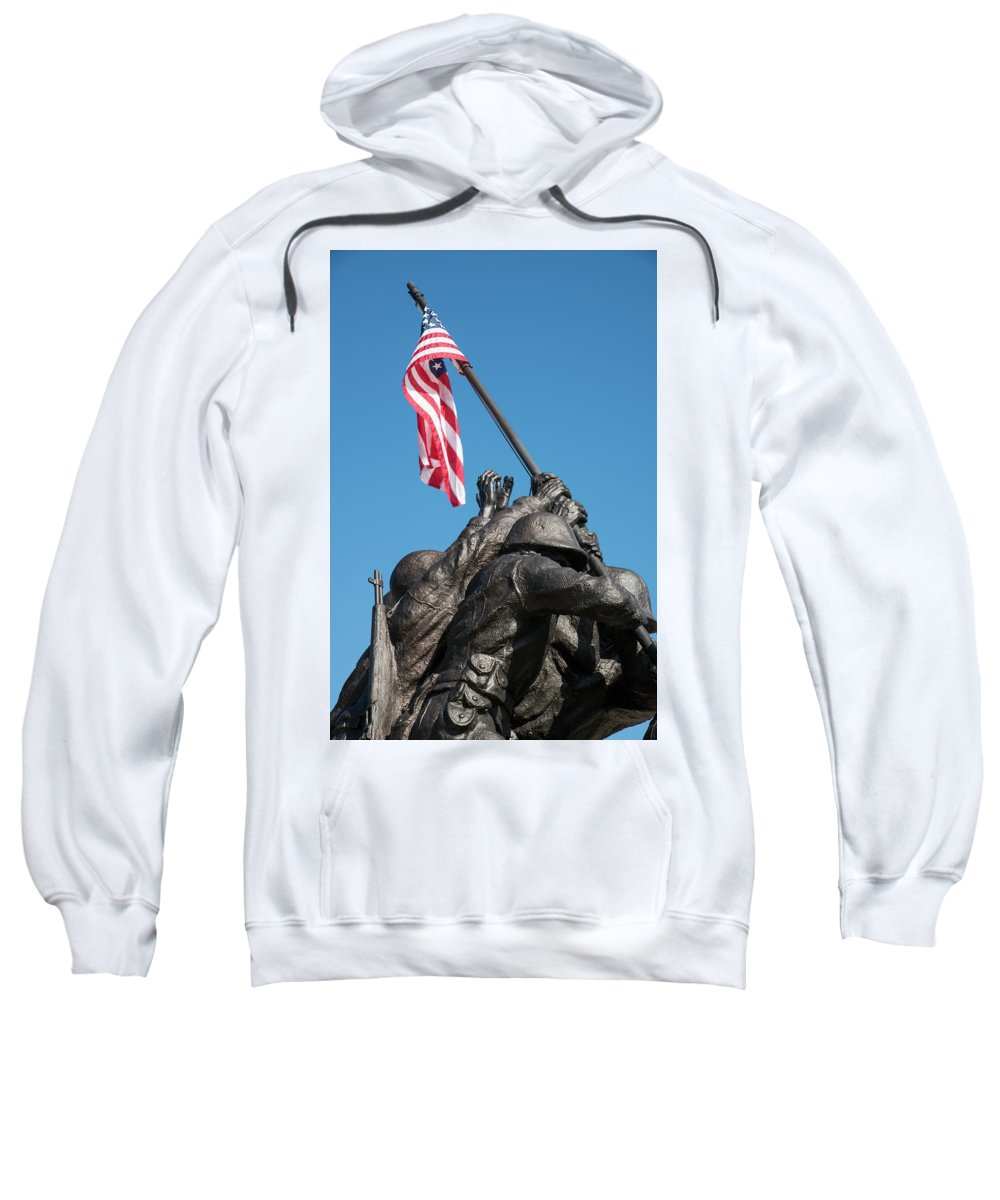 Cape Coral Sweatshirt featuring the photograph Iwo Jima 1945 - War Memorial, Cape Coral, Florida by Timothy Wildey