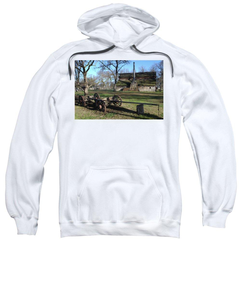 Barn Sweatshirt featuring the photograph Jack Stone Barn by David Crockett