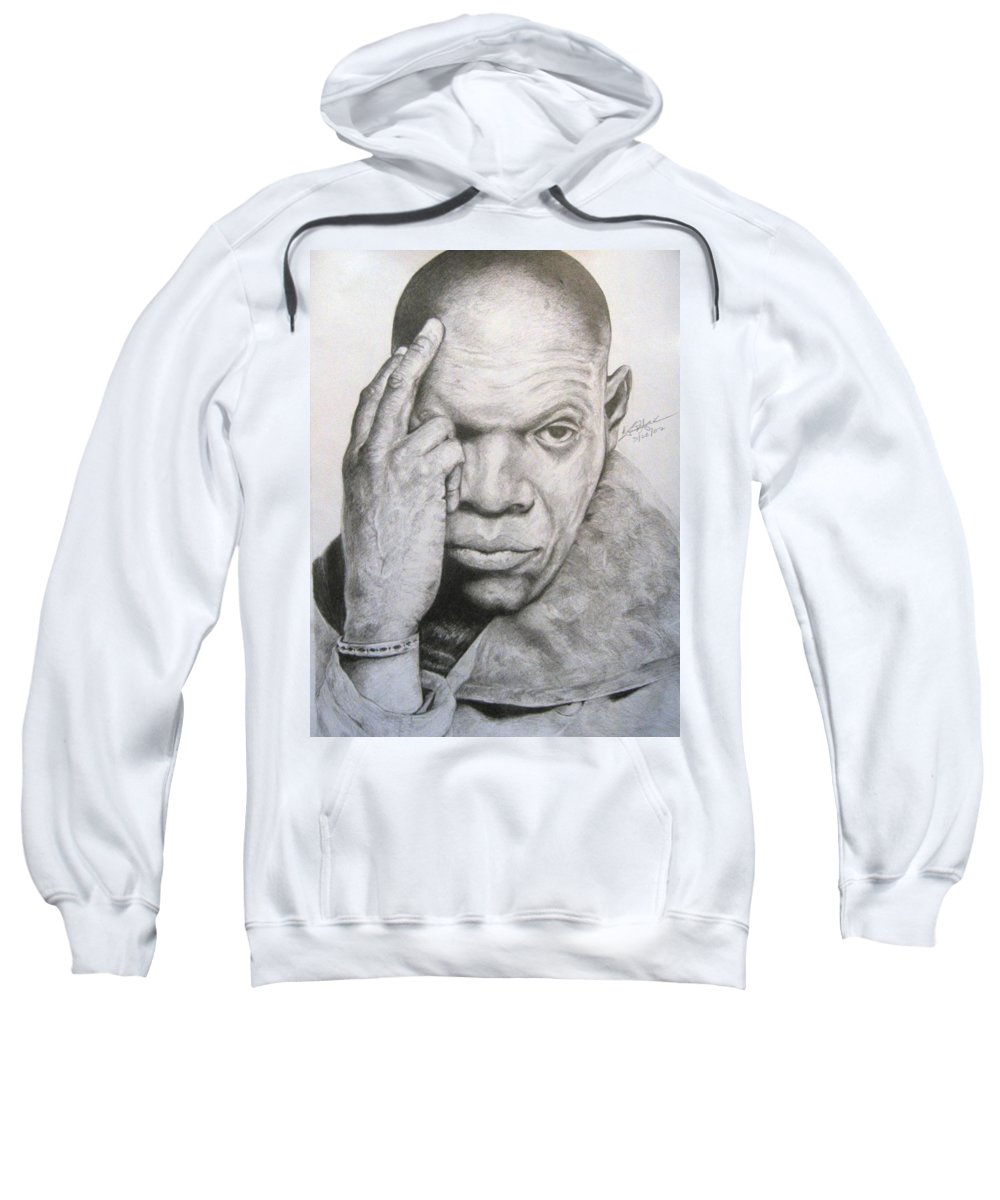 Portrait Sweatshirt featuring the drawing Jackson By Kyle Anderson by Joyce Owens