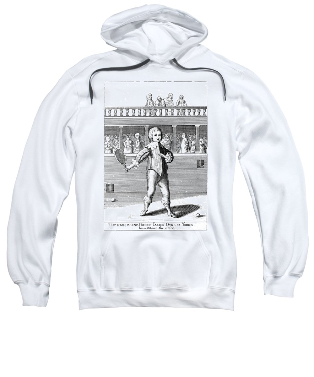 Athlete Sweatshirt featuring the photograph James II (1633-1701) by Granger