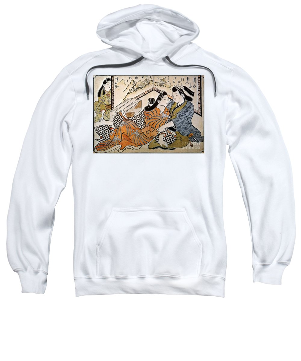1685 Sweatshirt featuring the photograph Japan: Lovers by Granger
