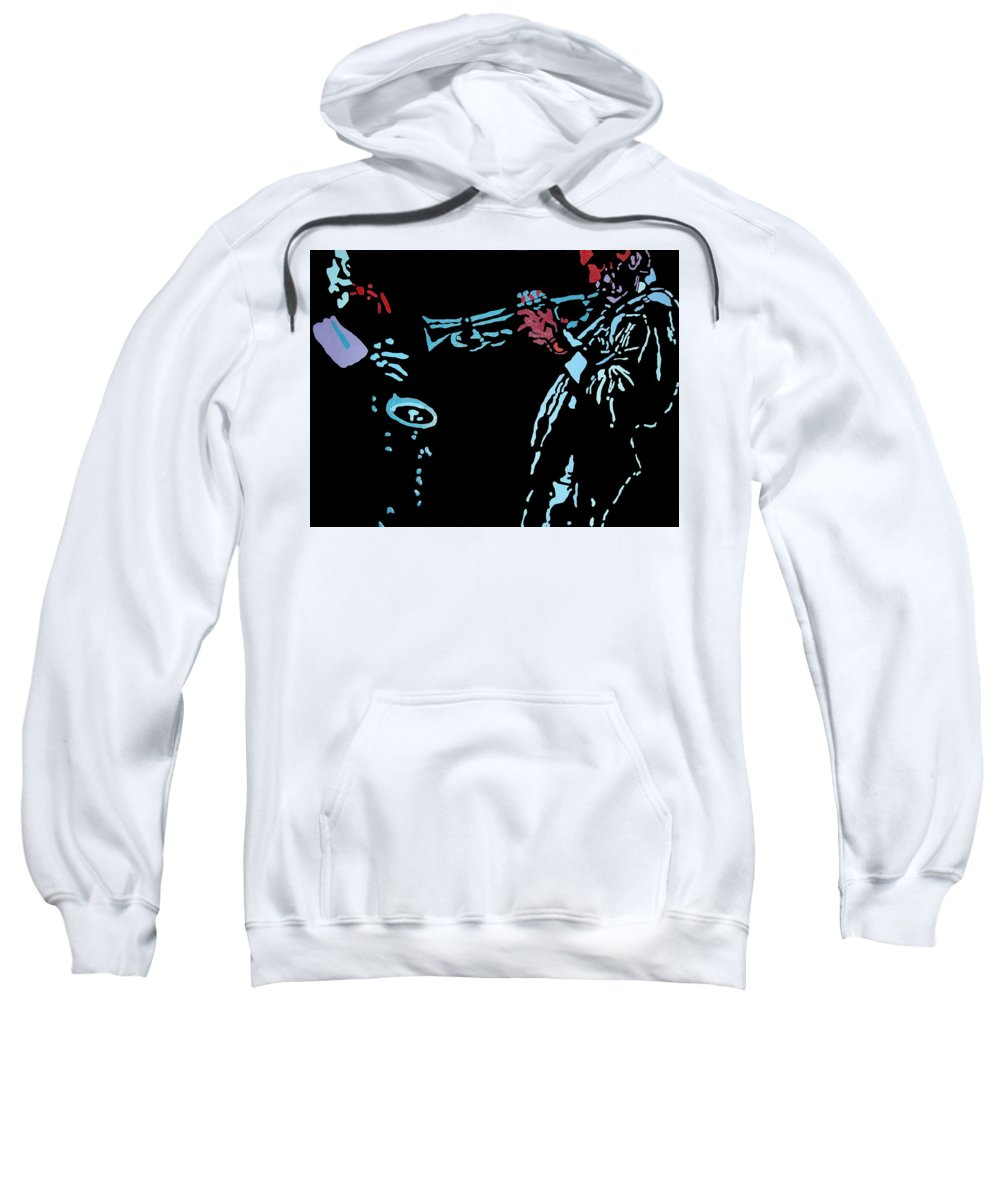 Abstract Sweatshirt featuring the painting Jazz Duo by Angelo Thomas