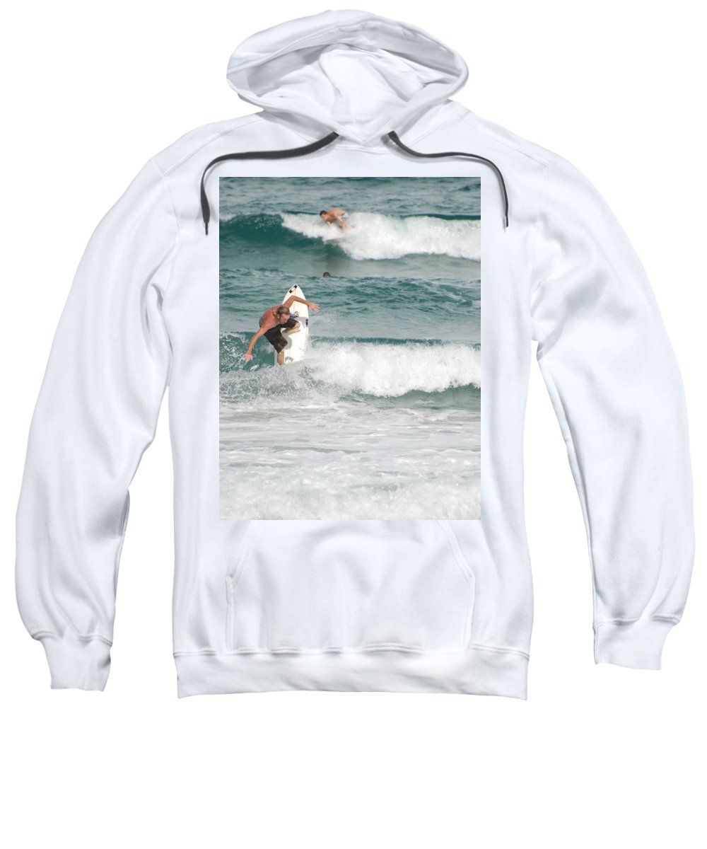 Ocean Sweatshirt featuring the photograph Jeff Spicolli by Rob Hans
