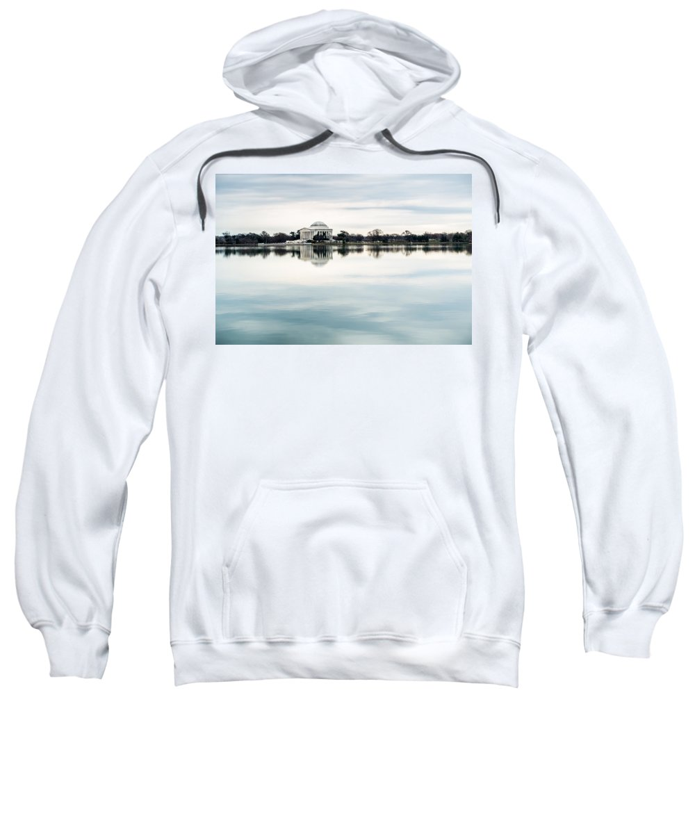 Jefferson Memorial Sweatshirt featuring the photograph Jefferson Memorial And Tidal Basin by SR Green