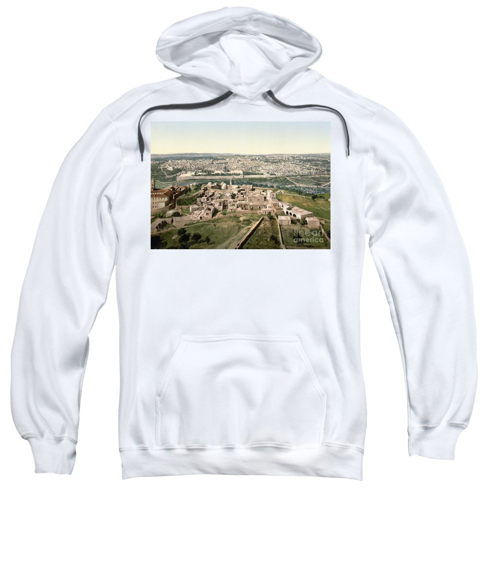 1900 Sweatshirt featuring the photograph Jerusalem, C1900 by Granger