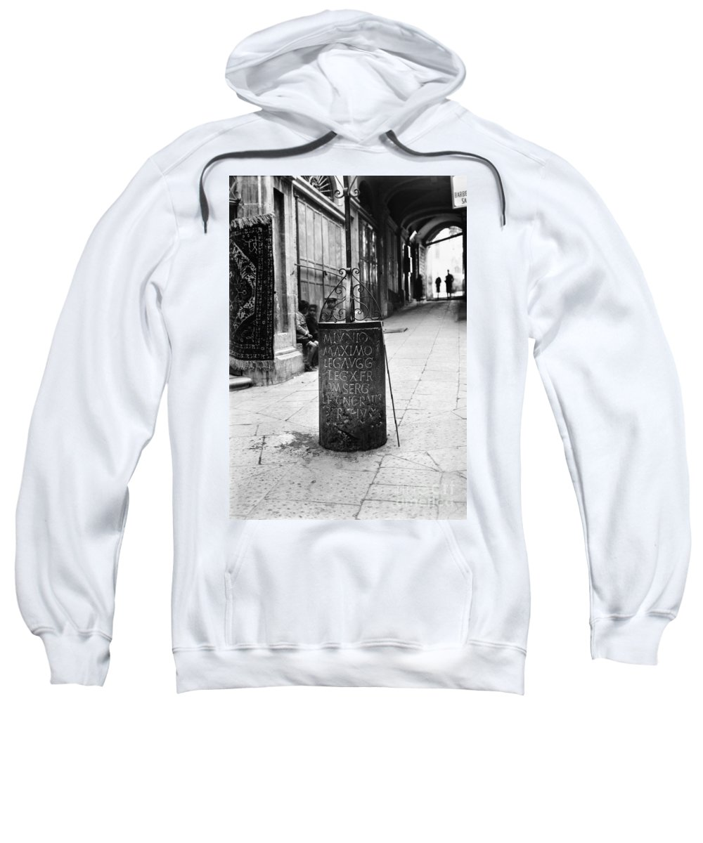 10th Sweatshirt featuring the photograph Jerusalem: Roman Pillar by Granger
