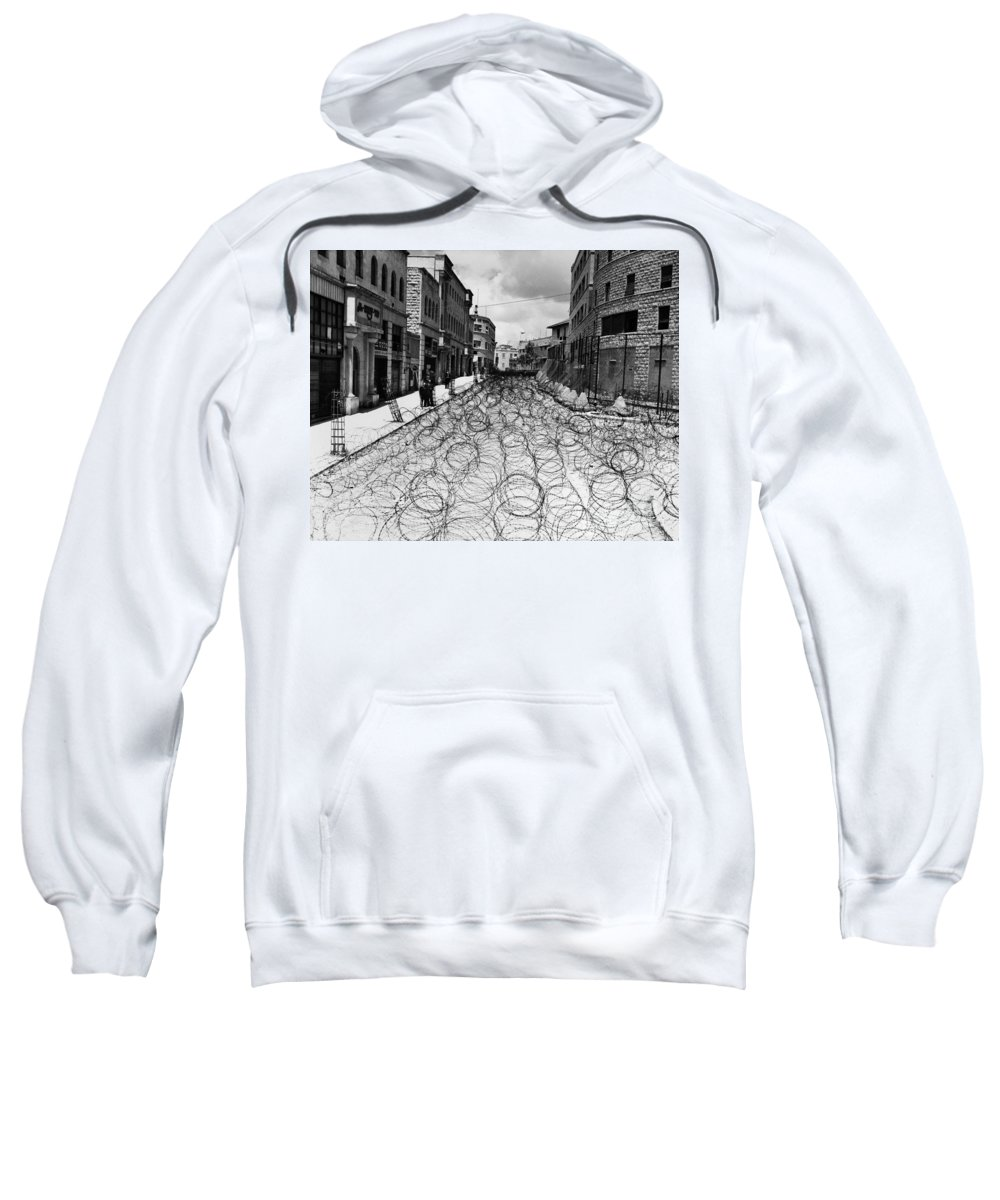 1948 Sweatshirt featuring the photograph Jerusalem: Street, 1948 by Granger