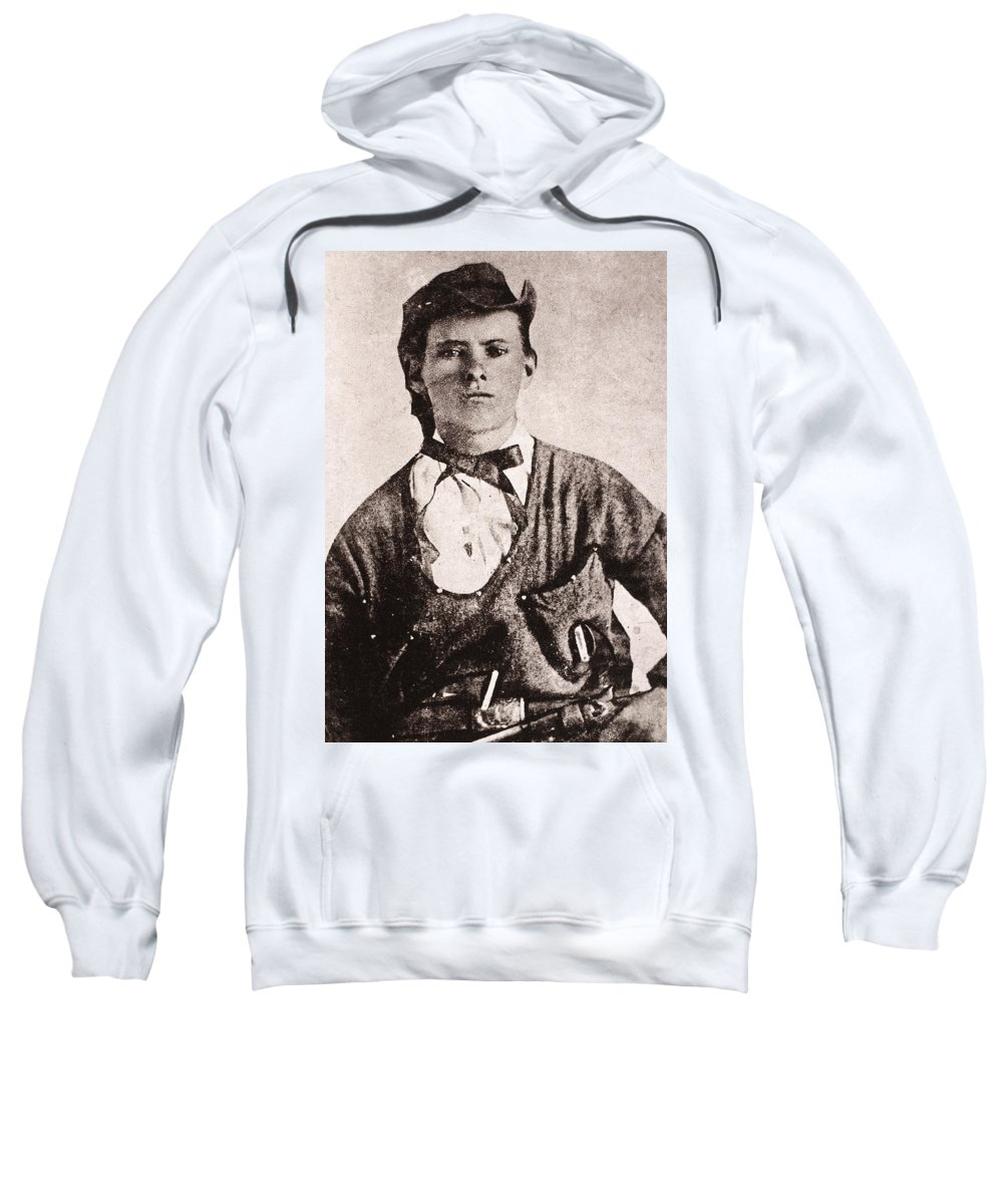 1873 Sweatshirt featuring the photograph Jesse James (1847-1882) by Granger