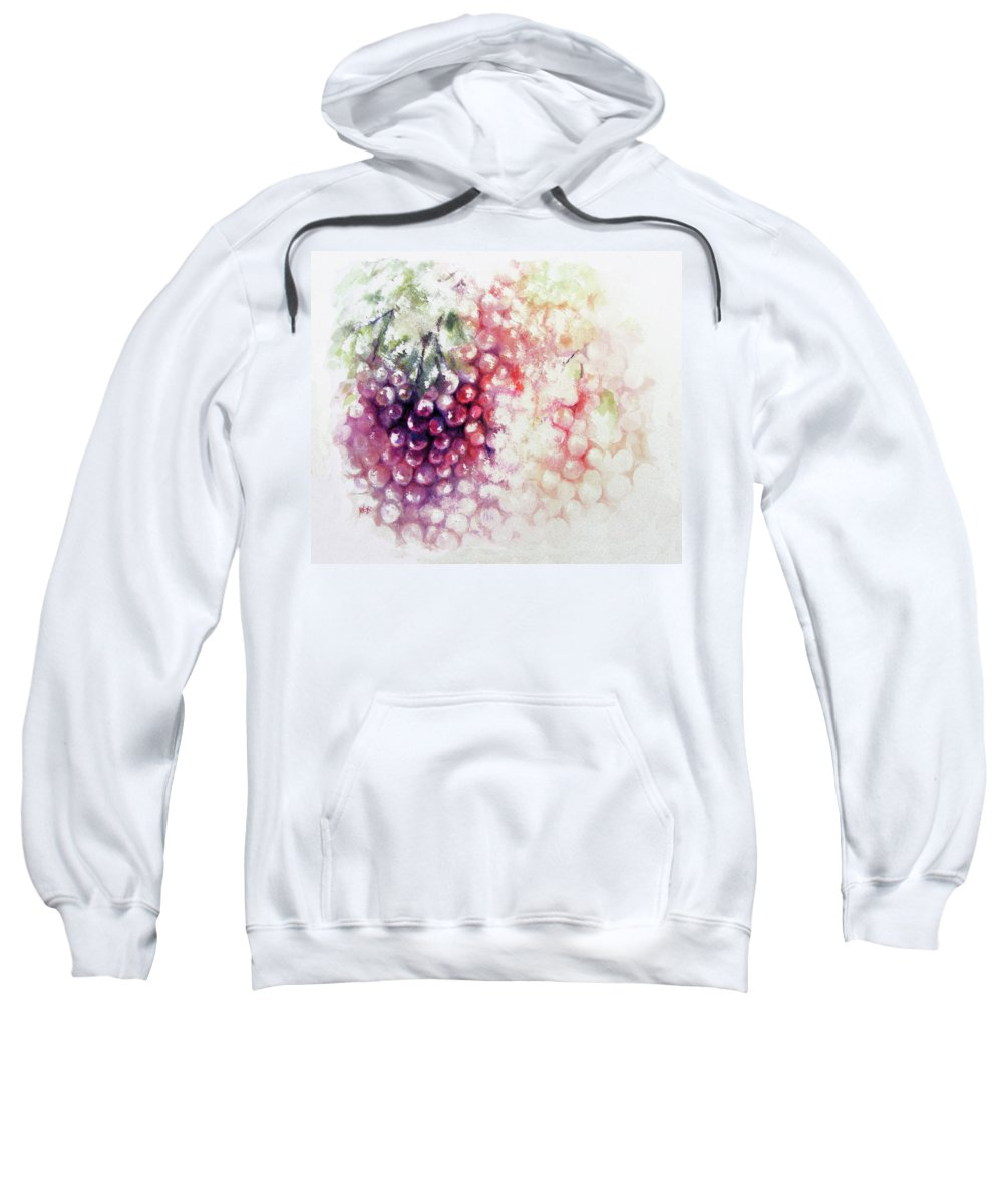 Grapes Sweatshirt featuring the painting Jewels On The Vine by William Russell Nowicki