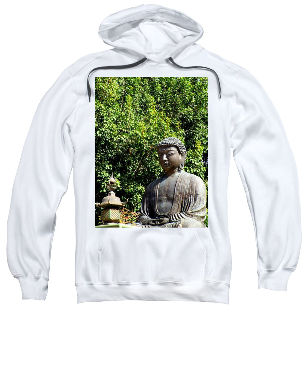 Buddha Sweatshirt featuring the photograph Jodo Mission Lahaina 10 by Randall Weidner