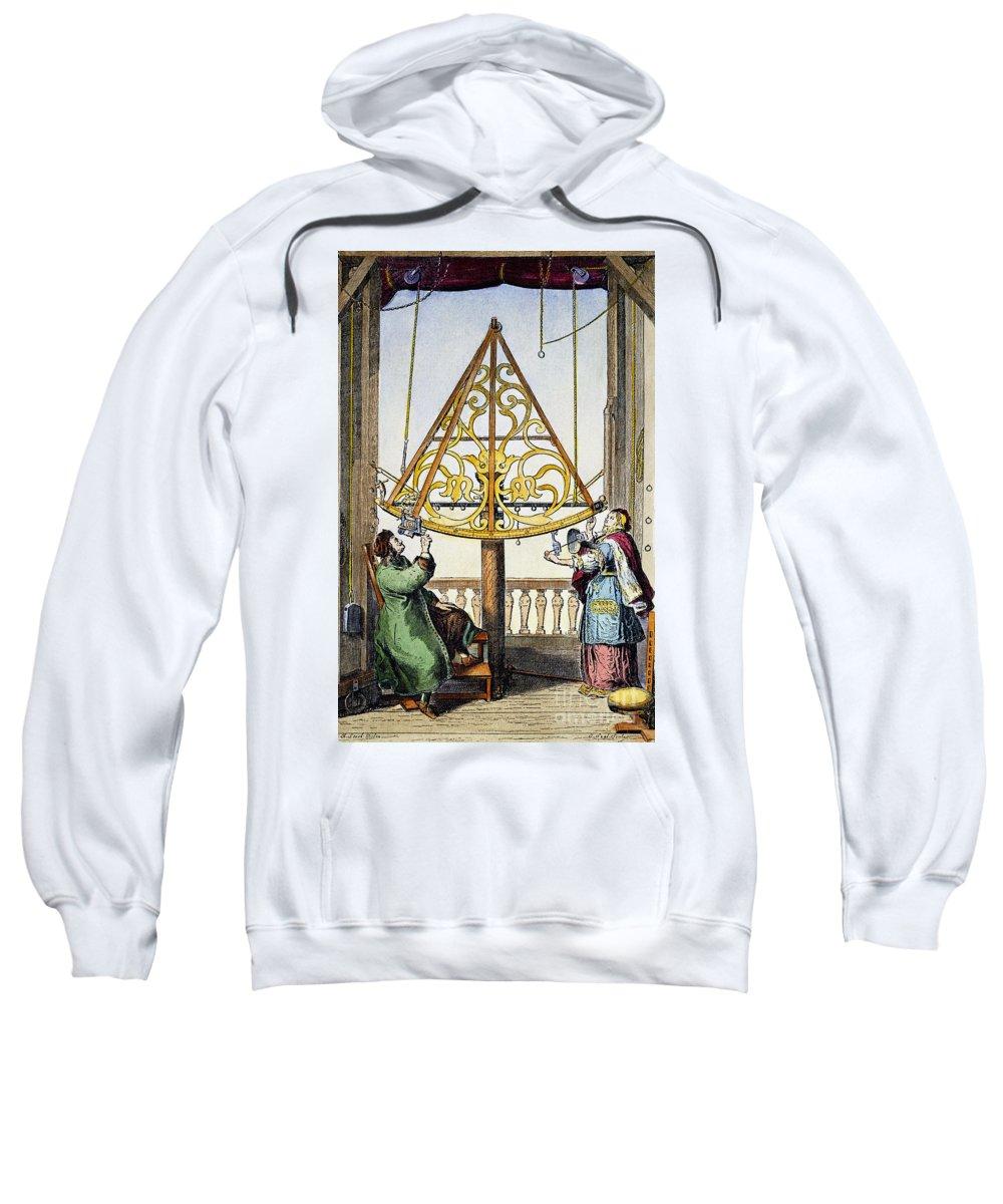 1673 Sweatshirt featuring the photograph Johannes Hevelius by Granger