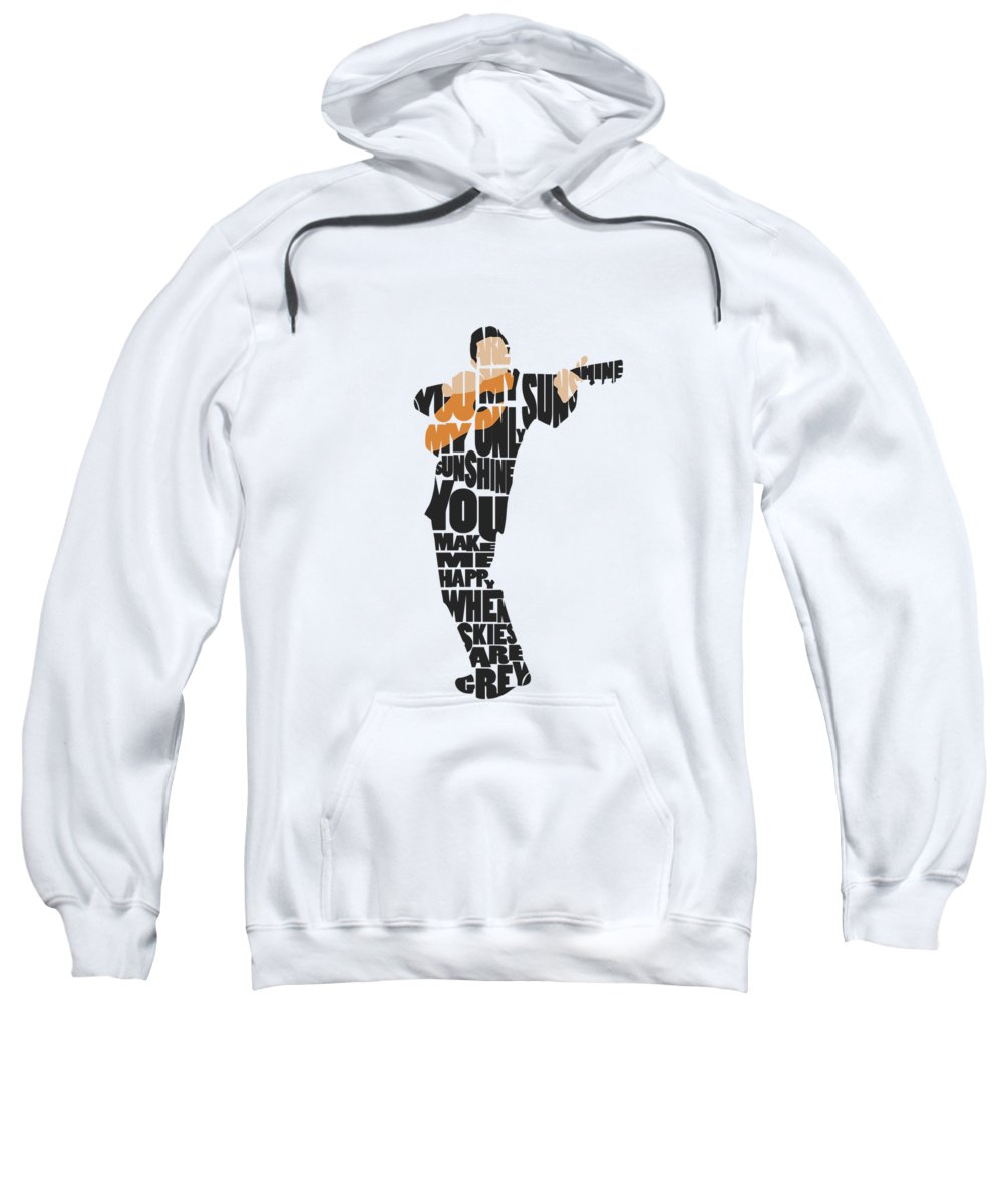 Johnny Cash Sweatshirt featuring the painting Johnny Cash Typography Art by Inspirowl Design