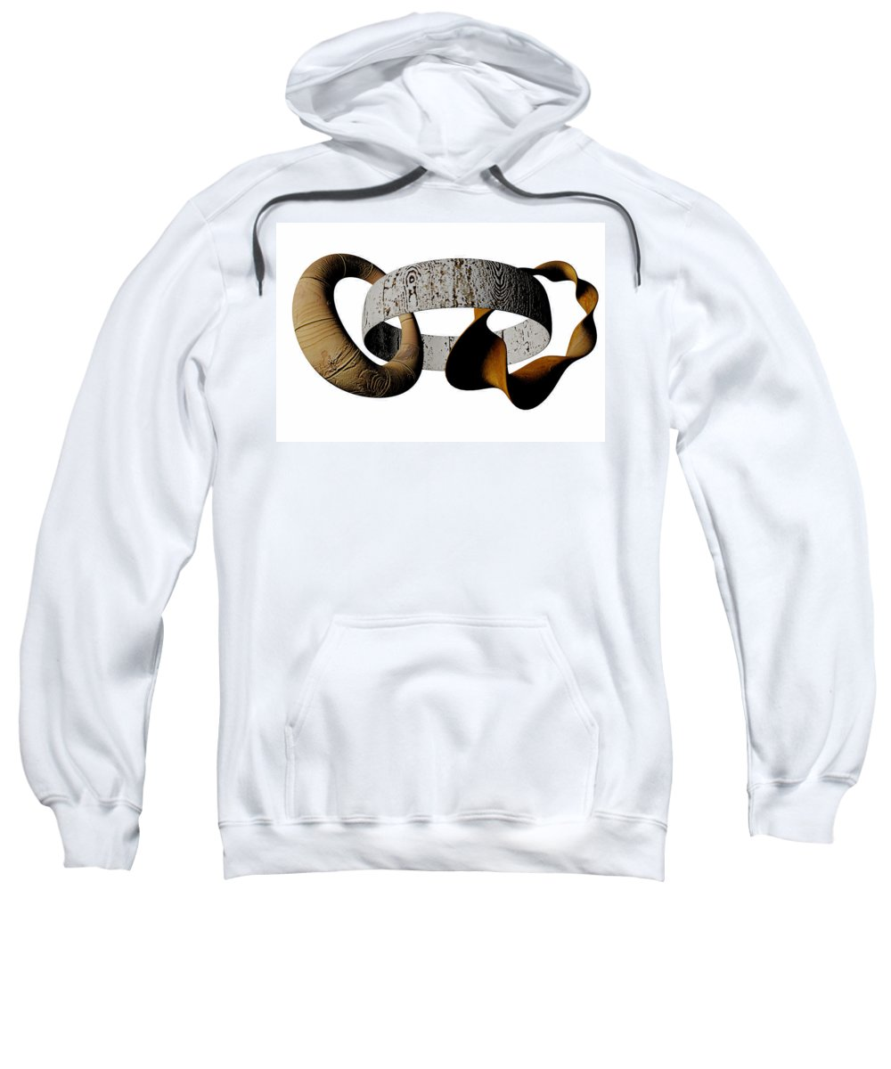 Circle Sweatshirt featuring the digital art Join Circles by R Muirhead Art