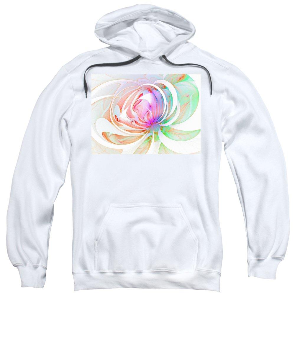 Digital Art Sweatshirt featuring the digital art Joy by Amanda Moore