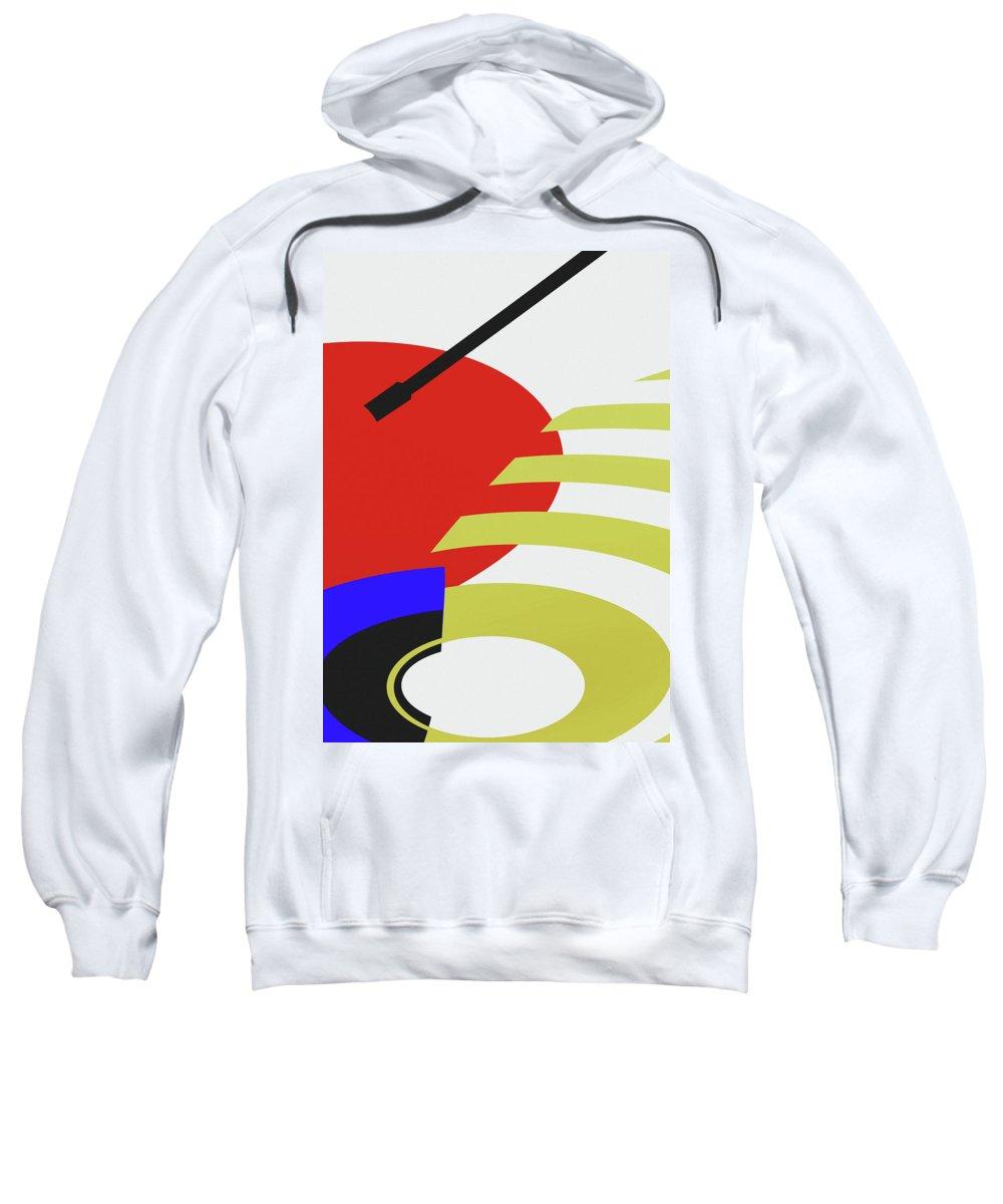 Jukebox Sweatshirt featuring the digital art Jukebox by Richard Rizzo