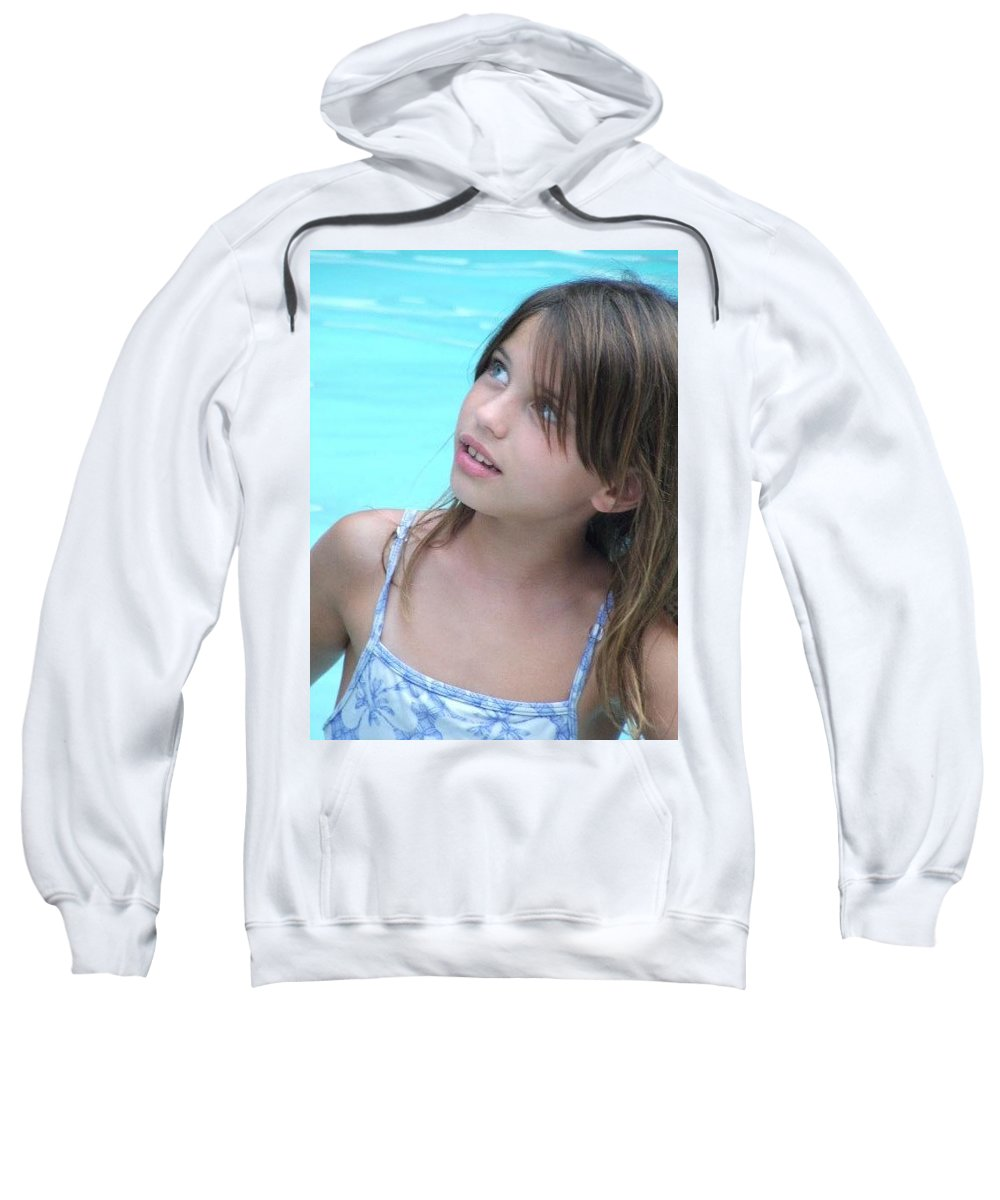 Sweatshirt featuring the photograph Julz by Michelle S White