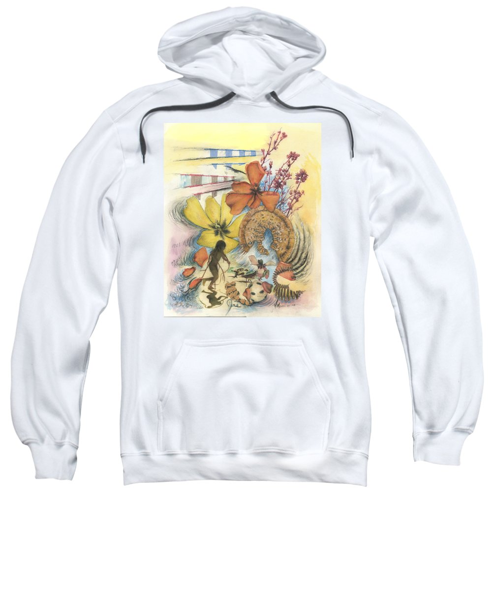 Abstract Sweatshirt featuring the digital art June by Valerie Meotti