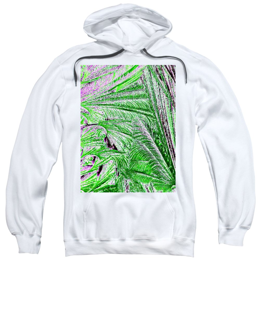 Abstract Sweatshirt featuring the digital art Jungle Flora by Will Borden