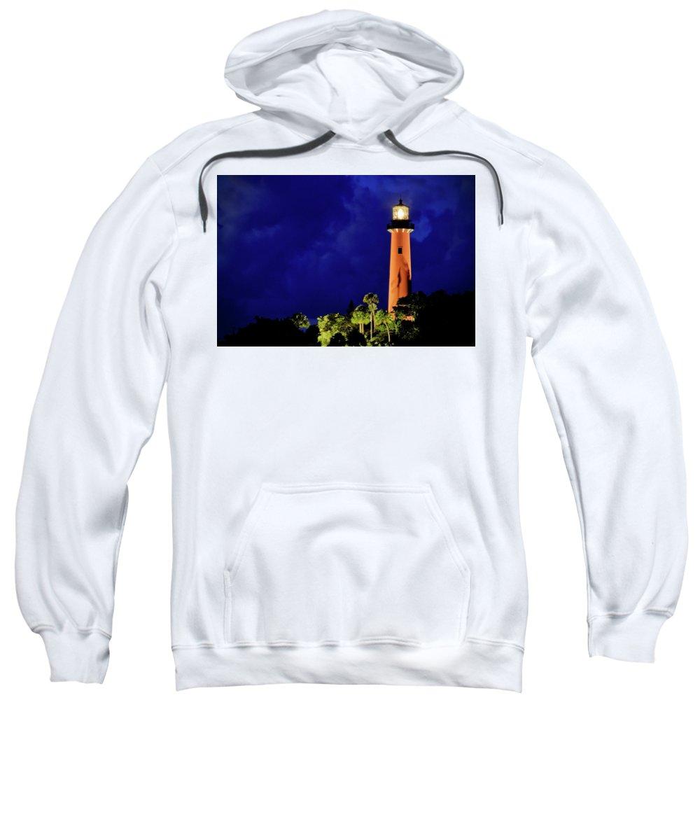 American Sweatshirt featuring the photograph Jupiter Lighthouse by Carol Eade