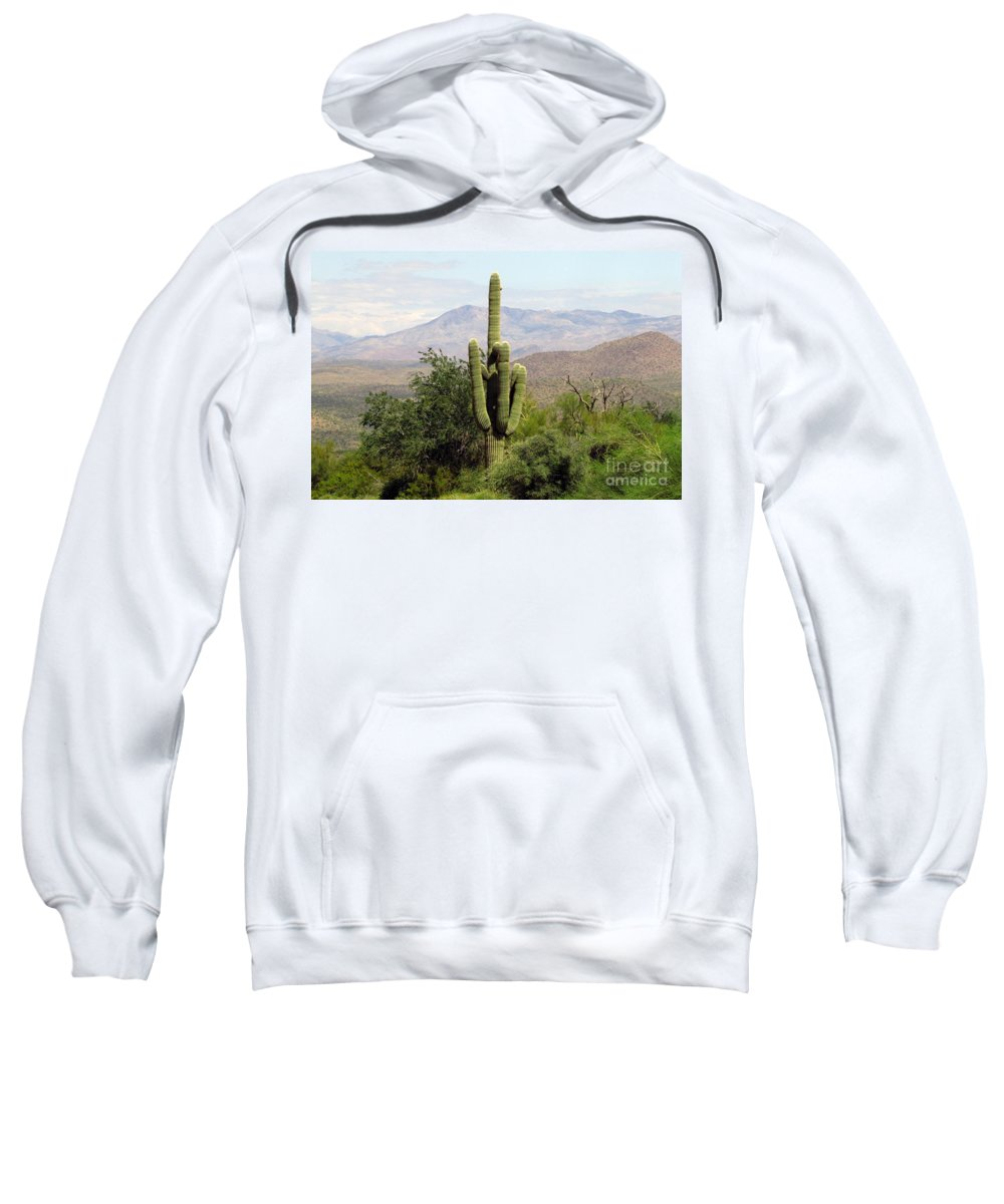 Desert Sweatshirt featuring the photograph Just Arizona by Marilyn Smith