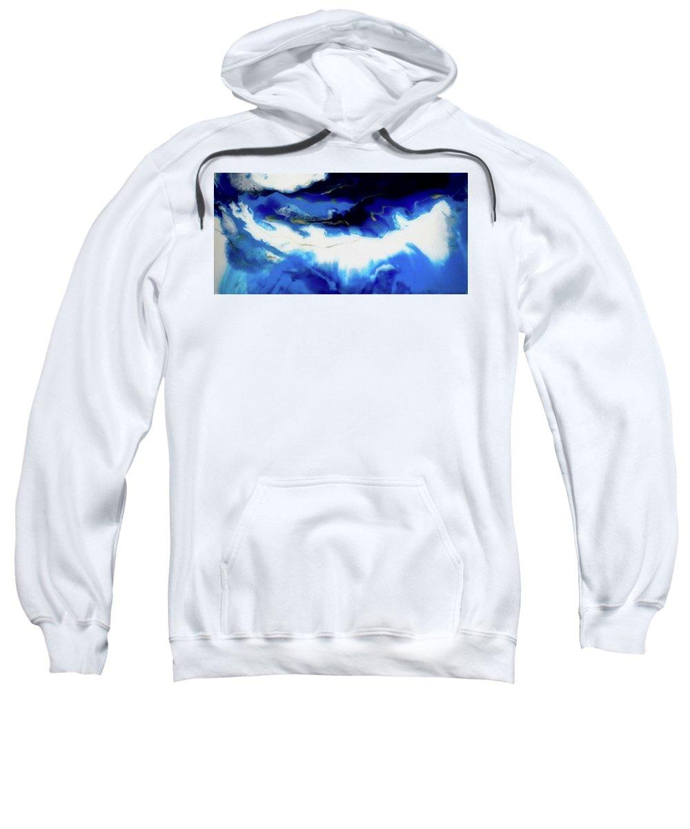Original Sweatshirt featuring the painting Just Blue by Kim Switzer