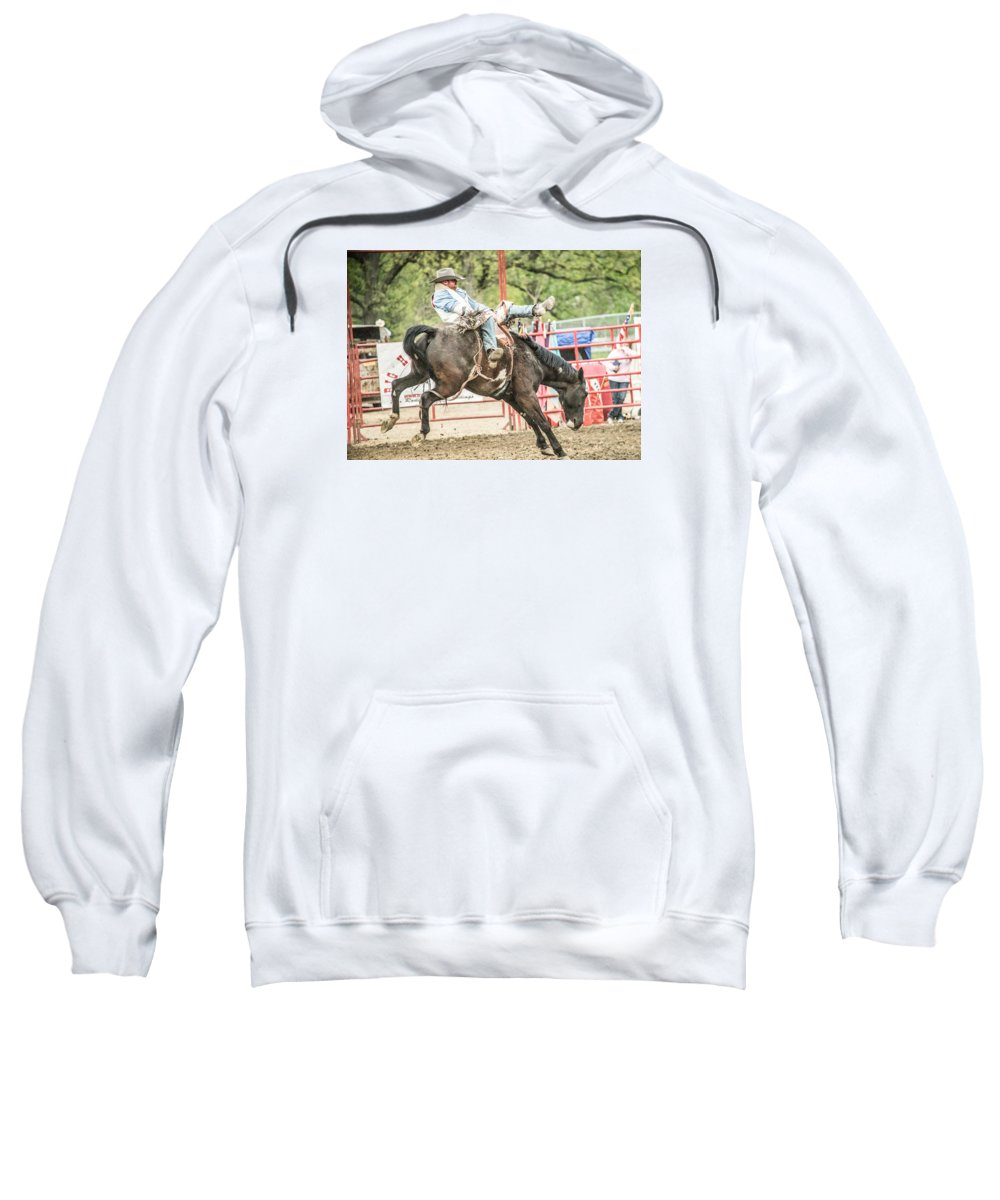 Orange & Blue Rodeo Sweatshirt featuring the photograph K by Terry Brown