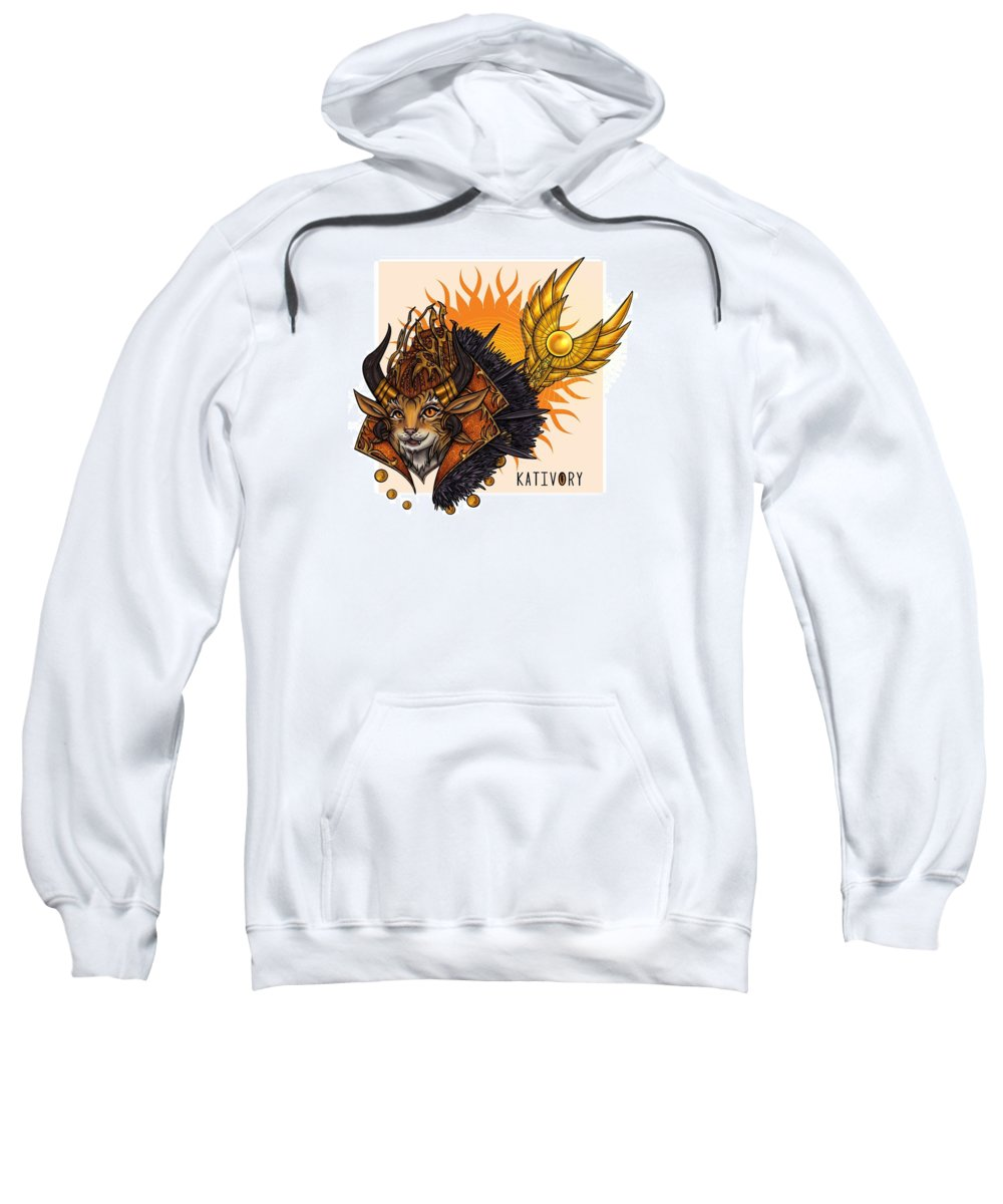 Gw2 Guild Wars Charr Sweatshirt featuring the digital art Kativory by Sylvie Boersma