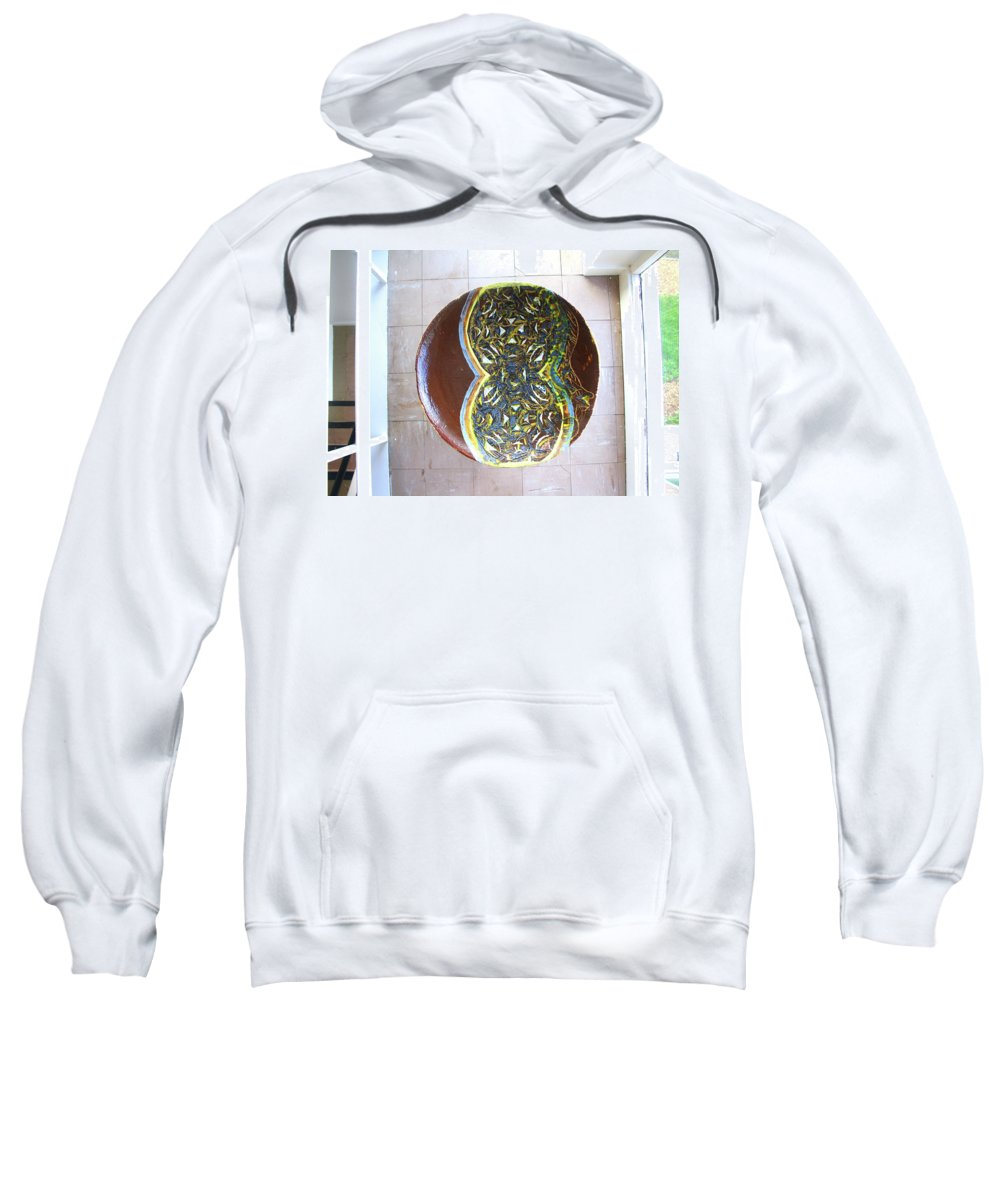 Mama Africa Twojesus Sweatshirt featuring the ceramic art Keepsake View 2 by Gloria Ssali