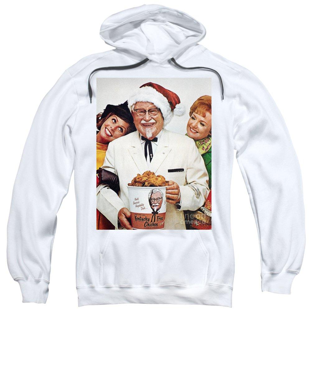 1968 Sweatshirt featuring the photograph Kentucky Fried Chicken Ad by Granger