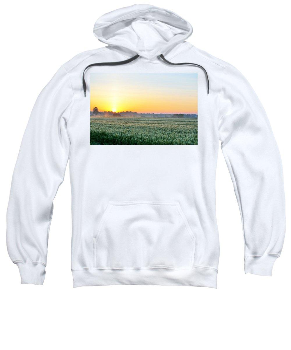 Kentucky Sweatshirt featuring the photograph Kentucky Wheat Crop by Merle Grenz