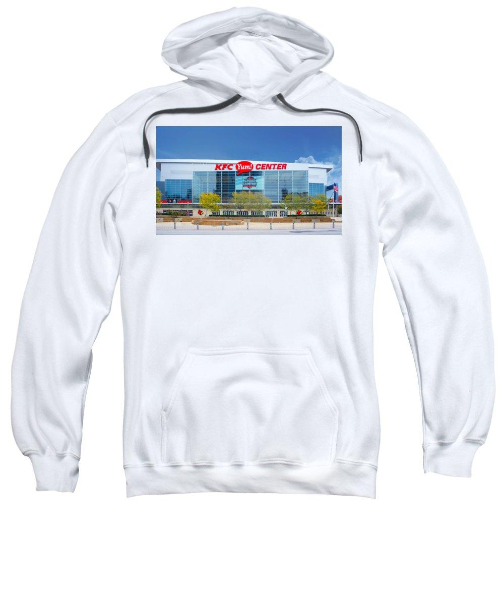 Kfc Yum Center Sweatshirt featuring the photograph Kfc Yum Center, Louisville by Art Spectrum