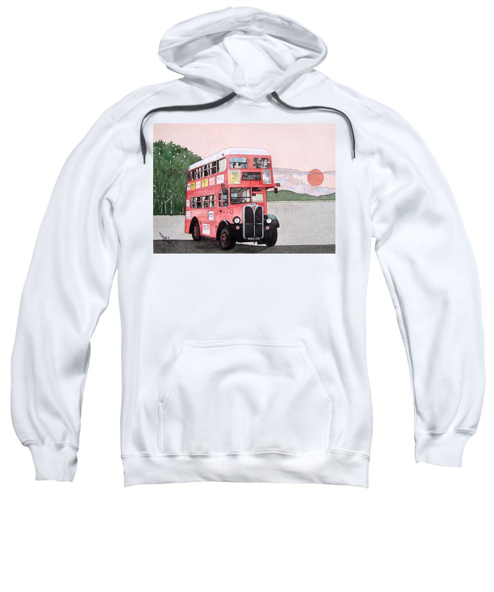 Bus Sweatshirt featuring the painting Kirkland Bus by Gale Cochran-Smith