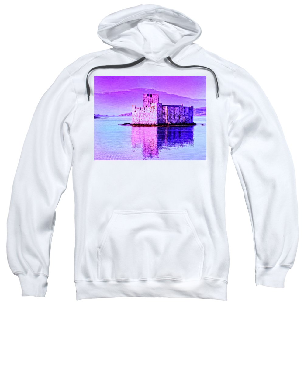 Castle Sweatshirt featuring the painting Kisimul Castle by Dominic Piperata