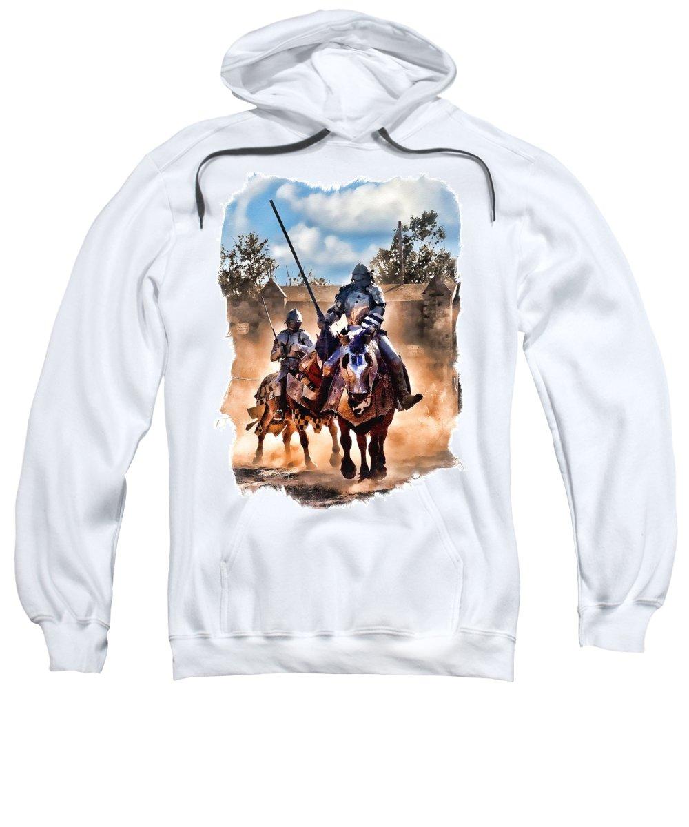 Knights Sweatshirt featuring the digital art Knights Of Yore by Tom Schmidt