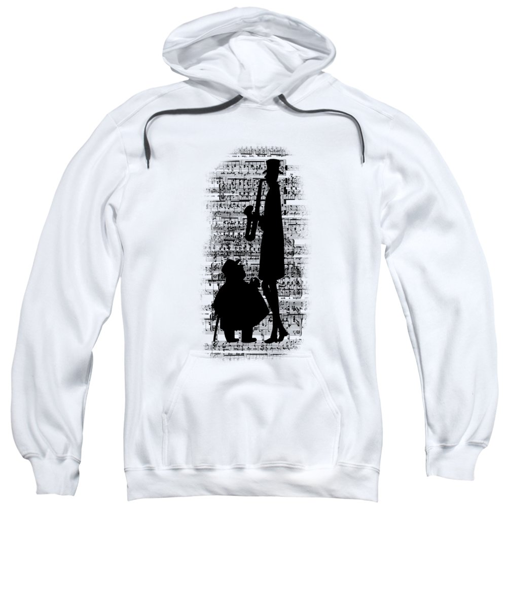 Musicians Sweatshirt featuring the digital art Knowing The Score Transparent Background by Barbara St Jean