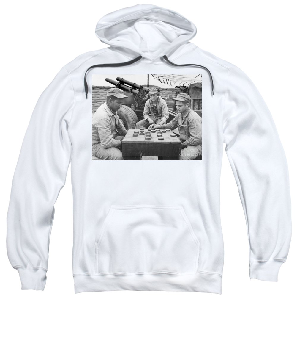 1952 Sweatshirt featuring the photograph Korean War (1950-1953) by Granger