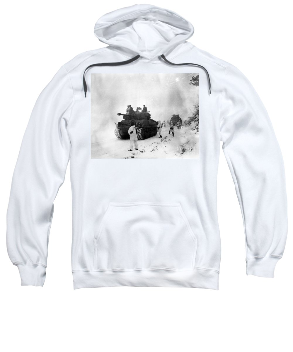 1951 Sweatshirt featuring the photograph Korean War: Allied Forces by Granger