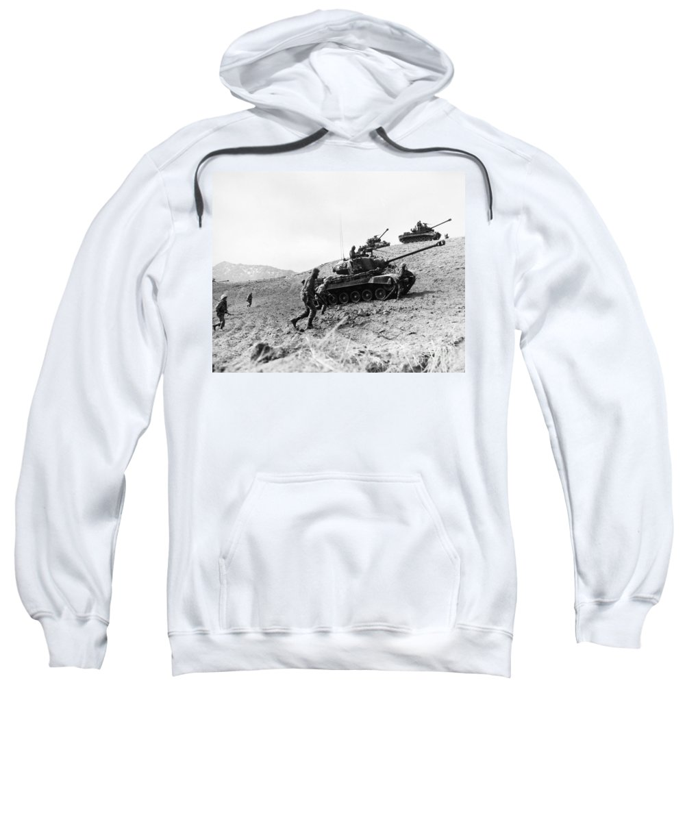 1952 Sweatshirt featuring the photograph Korean War: Infantrymen by Granger
