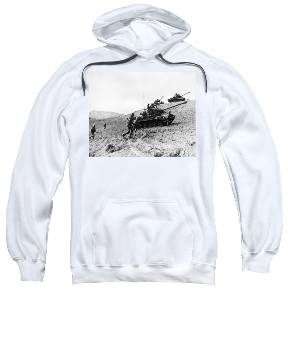 1952 Sweatshirt featuring the photograph Korean War: Infantrymen by Granger