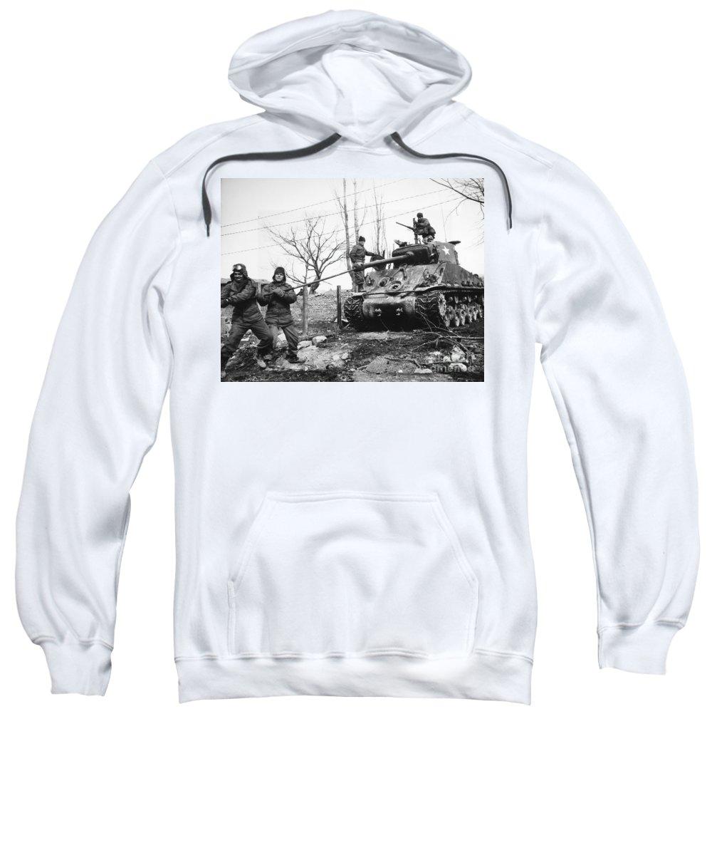 1951 Sweatshirt featuring the photograph Korean War: Tank, 1951 by Granger
