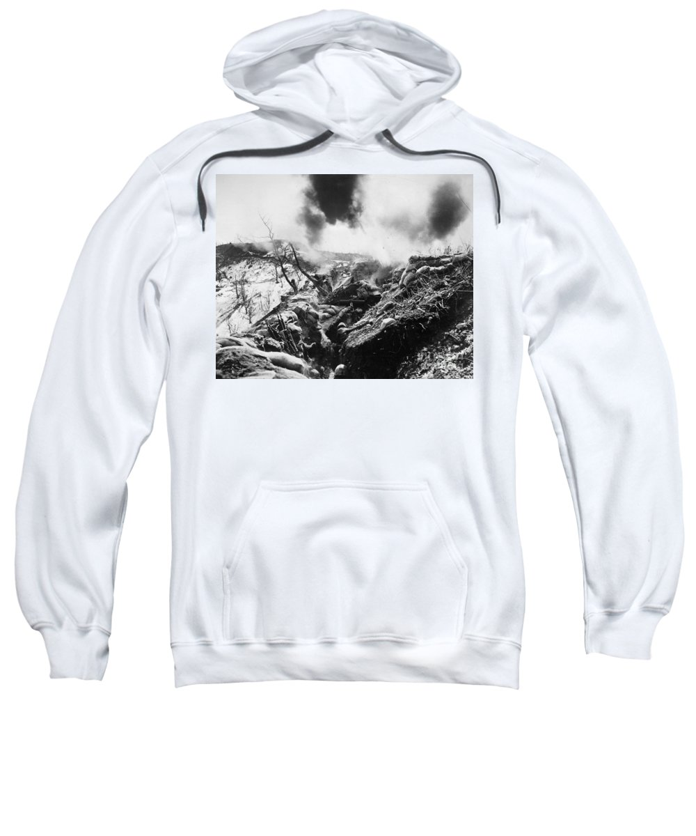 1952 Sweatshirt featuring the photograph Korean War: Trenches, 1952 by Granger