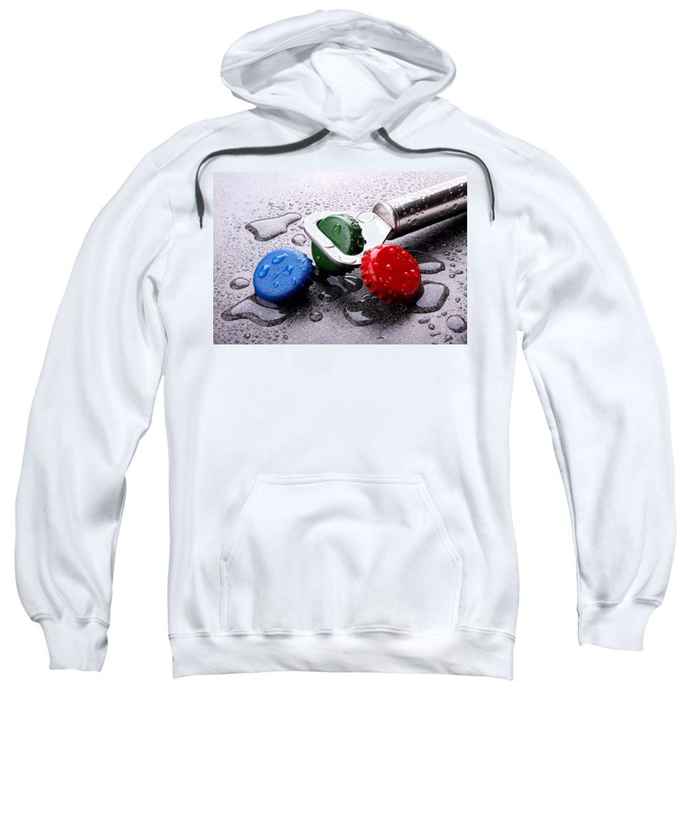 Bottle Sweatshirt featuring the photograph Kron Cork by Manfred Lutzius